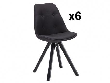 Stuhl 6er-Set ANEYA - Schwarz
