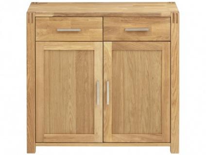 Sideboard Holz BROCELANDE II - Eiche geölt - 2 Türen & 2 Schubladen - Vorschau 3