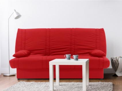 Schlafsofa Klappsofa mit Bettkasten FARWEST II - 100% Baumwolle - Rot