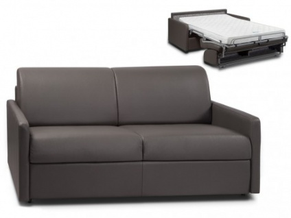 Schlafsofa 3-Sitzer CALIFE - Grau - Liegefläche: 140 cm - Matratzenhöhe: 14cm