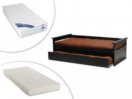 Set ausziehbett massivholz alfonso lattenrost 2 matratzen
