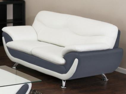 2-Sitzer-Sofa Indiz - Grau & Weiß