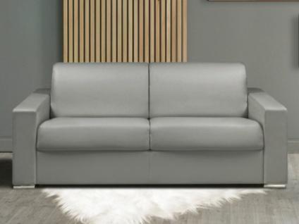 Schlafsofa 3-Sitzer CALITO - Grau - Liegefläche: 140 cm - Matratzenhöhe: 14cm