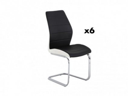 Stuhl 6er-Set TYLIO - Schwarz
