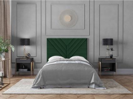 Bett-Kopfteil HOLDA - 160 cm - Samt - Grün