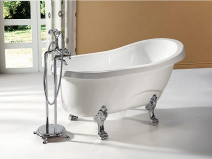 Freistehende Badewanne Egee II - 171 L - Weiß/Silber