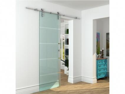 Glasschiebetür Stahl Glassy - 205x73 cm