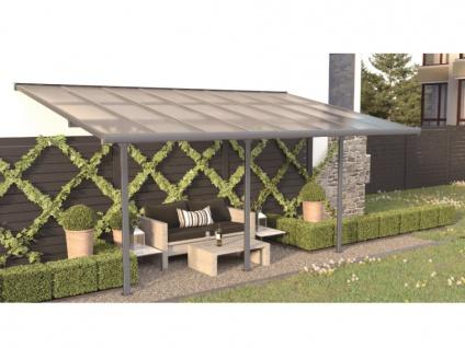 Terrassendach anlehnend ALVARO - Aluminium - 15, 1 m²