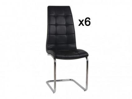 Stuhl 6er-Set Nadia - Schwarz