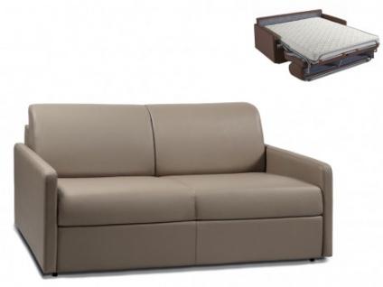 Schlafsofa 3-Sitzer CALIFE - Taupe - Liegefläche: 140 cm - Matratzenhöhe: 14cm