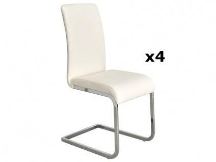 Stuhl Freischwinger 4er-Set Lirica - Weiß - Vorschau 2