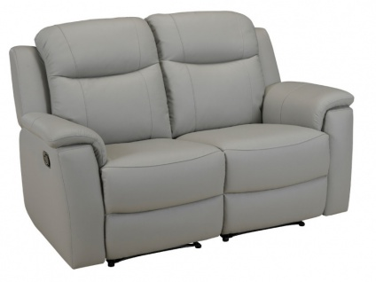 Relaxsofa Leder 2-Sitzer Evasion - Hellgrau