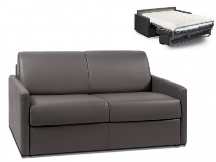 Schlafsofa 2-Sitzer CALIFE - Grau - Liegefläche: 120 cm - Matratzenhöhe: 18cm