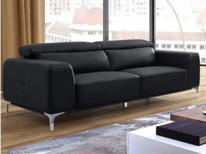 Sofa 3-Sitzer Wanaka - Schwarz