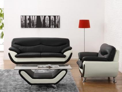 Couchgarnitur 3+1 Indiz - Schwarz & Weiß - Vorschau 2