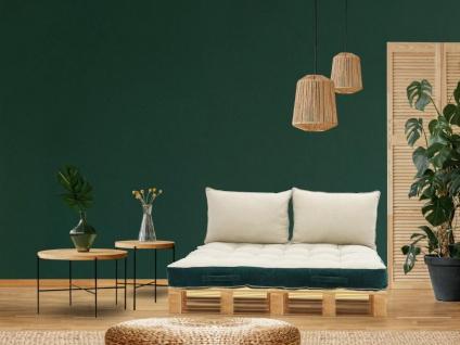 Palettenauflage Sitzkissen SAORGE - Samt - 80 x 120 x 15 cm - Grünblau