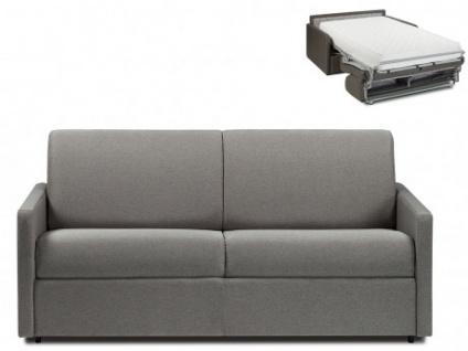 Schlafsofa 3-Sitzer Stoff CALIFE - Hellgrau - Liegefläche: 140 cm - Matratzenhöhe: 22cm