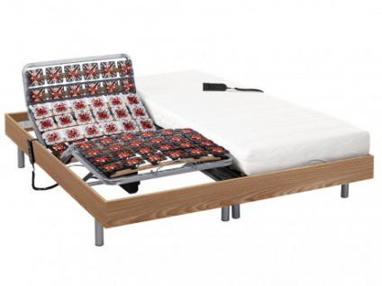 Matratzen elektrischer Lattenrost 2er-Set PERSEE von DREAMEA - Taupe - 2x90x200 - Okin-Motor
