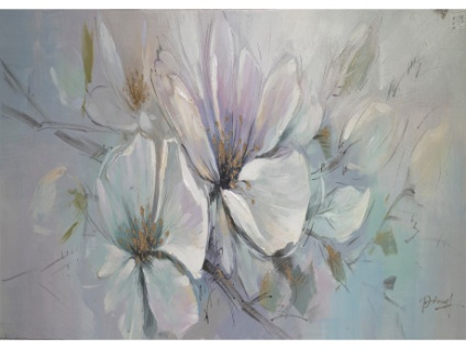 Ölgemälde Blumen ACONIT - 50x150cm
