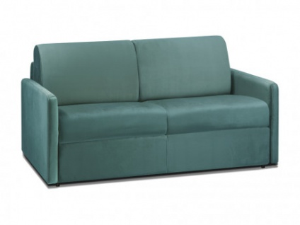 Schlafsofa 2-Sitzer Samt CALIFE - Minzgrün - Liegefläche: 120 cm - Matratzenhöhe: 22cm