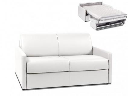 Schlafsofa 2-Sitzer CALIFE - Weiß - Liegefläche: 120 cm - Matratzenhöhe: 14cm