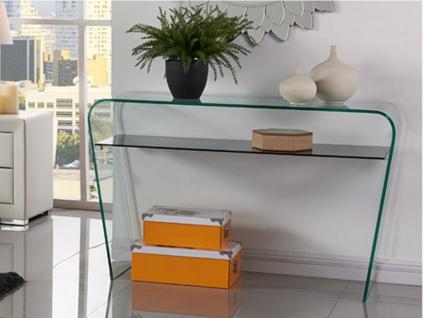 Wandkonsole Glas Design Kelly - Transparent-Schwarz