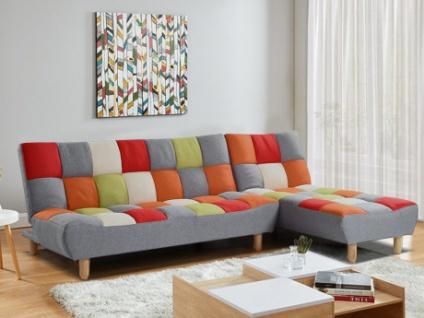 Modulierbares Sofa mit Bettfunktion Stoff ESTEBAN - Patchwork
