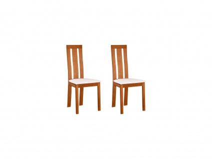 Stuhl 2er-Set Massivholz Domingo - Naturfarben