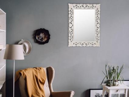 Wandspiegel Barockstil MANELE - B. 60 x H. 80 cm - Weiß patiniert - Vorschau 5