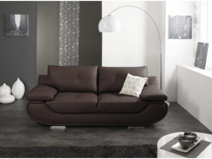 Ledersofa 2-Sitzer Orgullosa - Luxusleder - Braun