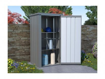 Garten-Aufbewahrungsschrank LAUP - Stahl - Grau - 0, 7 m²