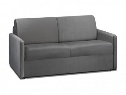 Schlafsofa 2-Sitzer Samt CALIFE - Anthrazit - Liegefläche: 120 cm - Matratzenhöhe: 18cm