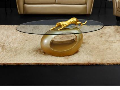 Couchtisch Glas Pebble - Limited Edition - Gold