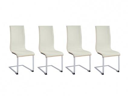 Stuhl 4er-Set AYANE - Eichenholzfarben/Weiß - Vorschau 3
