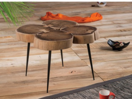 Couchtisch Holz Metall ECLEA