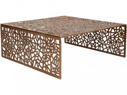 Couchtisch Design Inside Art Aluminium SPLENDEUR - Kupferfarben