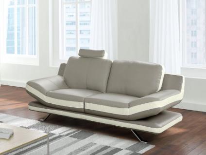2 Sitzer Sofa Leder Latika Grauelfenbein Kaufen Bei Kauf Uniquede
