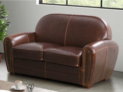 Ledersofa Vintage 2-Sitzer BAUDOIN - Braun