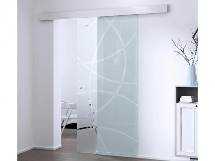 Glasschiebetür Alusystem HEIDI - H 205 x B 93 cm