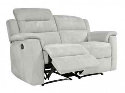 Relaxsofa Microfaser 2-Sitzer SIMONO - Hellgrau
