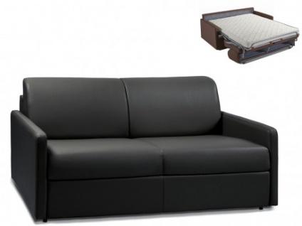 Schlafsofa 3-Sitzer CALIFE - Schwarz - Liegefläche: 140 cm - Matratzenhöhe: 14cm