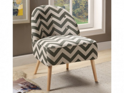 Sessel Stoff Holz CHANI - Grün/Beige