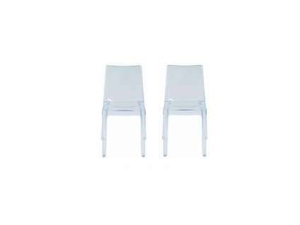 Stuhl 2er-Set Polycarbonat LUCINDA - Stapelbar