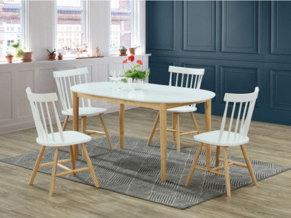Essgruppe ELVINE: Esstisch + 4 Stühle