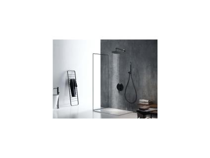 Duschsäule zum Einbauen NEGEA - Edelstahl - Schwarz