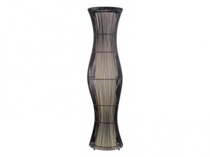 Stehlampe Stehleuchte Bambus Mojave - Höhe: 120, 5 cm - Schwarz