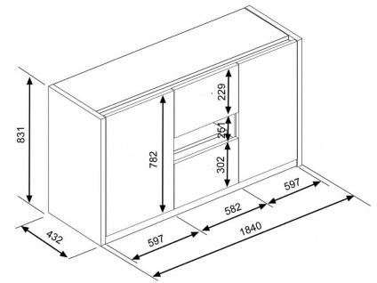 Sideboard PARKER - 2 Türen & 2 Schubladen - Vorschau 5