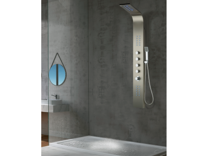 Massage Duschsäule LED Felicita - Silber