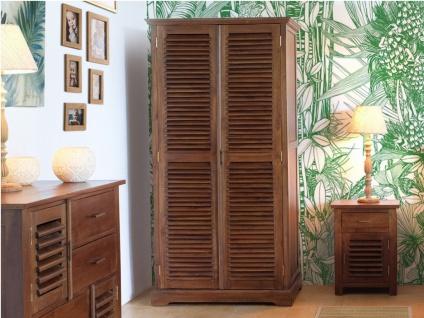 Kleiderschrank Massivholz Bali II - 2 Türen