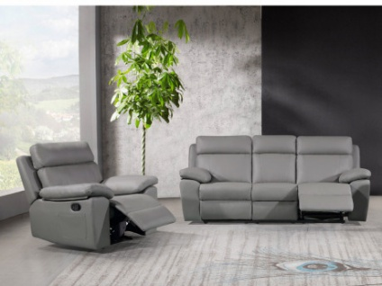 Couchgarnitur 3+1 Relax WIGAN - Grau